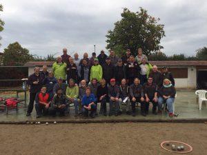 Die Teilnehmer am gemeinsamen Herbstturnier der TG Winkel und des Boule Club RHEINGAU